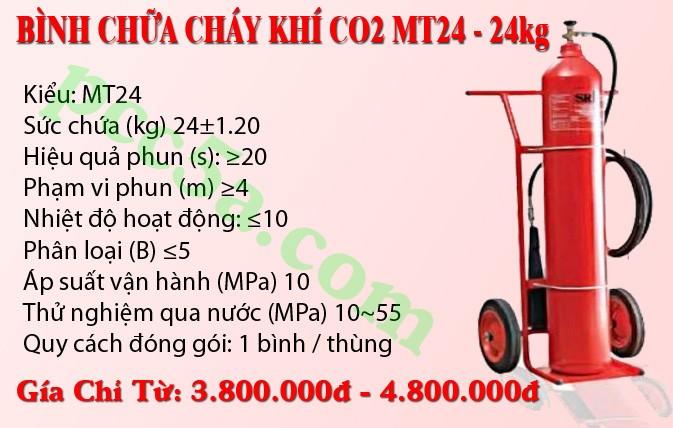 Bán bình chữa cháy khí CO2 MT24